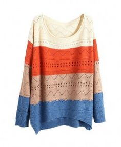 Color Block Jumpers with Cut Out Details