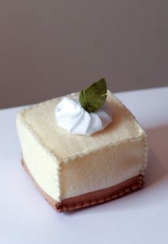 Felt Cheesecake Bite
