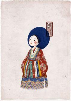The Glory of Vietnam Julia Sarda, Book Art, Doodle People, Coffee Cup Art, Royal Art, Art Costume, Digital Painting Tutorials, Call Art, China