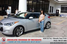 Thank you to Angelica  Marquez on your new 2013 Hyundai Veloster from Ron Hernandez  and everyone at Absolute Hyundai!