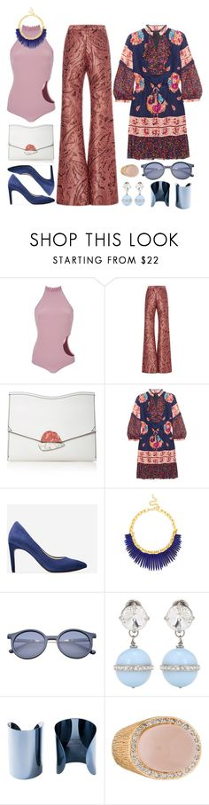 """Untitled #8519"" by cherieaustin on Polyvore featuring Made By Dawn, Proenza Schouler, Anna Sui, Cole Haan, Kenneth Jay Lane, Miu Miu and Maison Margiela"