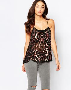 Image 1 ofTrue Decadence Embellished Cami Top