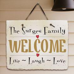 Personalized Live ~ Laugh ~ Love Slate Plaque
