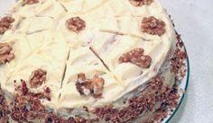 Orechová torta s kakaovou plnkou