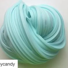 Mint green fluffy slime❄️ #slimelovers
