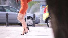 Hot Sexy Legs of Women Walking Down the Street - Stock Footage | by ionescu