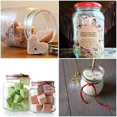 #DIY Beauty Gifts in Jars | @Daphne Brickhouse plains thrifter
