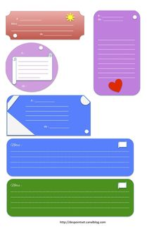 free printable etiquette, notes