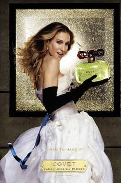 Sarah Jessica Parker - It only makes sense that the woman who played fashion icon Carrie Bradshaw for all those years should have a fragrance of her own. SJP launched Lovely in 2005 and has launched a further eight fragrances, including SJP NYC Pure Crush in 2005, her most recent.
