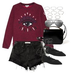 """""""Untitled #1822"""" by roxy-camarena on Polyvore featuring Kenzo, Abercrombie & Fitch, Givenchy, Office, Yves Saint Laurent and Forever 21"""