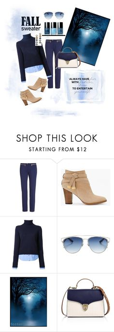 """""""Blue moon cozy"""" by pennie-gould on Polyvore featuring Versace, White House Black Market, Michael Kors, Christian Dior, Aspinal of London and DANNIJO"""
