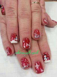 Happy Holiday nails art Christmas Nails, Winter Christmas, Sun Nails, Holiday Nail Art, Mani Pedi, Winter Nails, Nail Designs, Hair Beauty, Happy