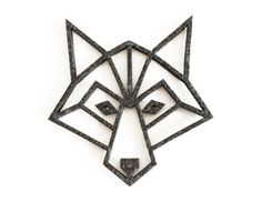 geometric wolf felt coaster (make using wood for wall art)