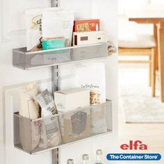 Elfa Door & Wall Racks help you utilize every inch of your pantry space. Shop our collection today! Door Shelves, Door Storage, Storage Rack, Storage Shelves, Shelving, Small Space Organization, Wall Organization, White Shoe Rack, Rack Solutions