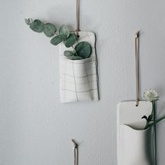 Ovo ceramics - wall hanging plantholders - photocred www.paperbag.no