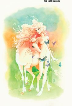 Original art by The Last Unicorn lead animator Tsuguyuki Kubo, 1980.