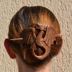 Hair stick Dragon jewelry Best selling item Game Thrones Womens gift Wood Dragon Hair Barrette Mother Handmade Gift for Women Dragon Gift Game Of Thrones Jewelry, Mother Jewelry, Dragon Jewelry, Handmade Hair Accessories, Boutique Hair Bows, Hair Sticks, Wooden Jewelry, Hair Barrettes, Gifts For Wife