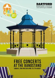 """""""FREE Sunday afternoon concerts at the Central Park bandstand are back for the Spring / Summer starting with Dartford Concert band this Sun! Free Concerts, Central Park, Gazebo, Outdoor Structures, Summer, Summer Time, Deck Gazebo, Summer Recipes, Cabana"""
