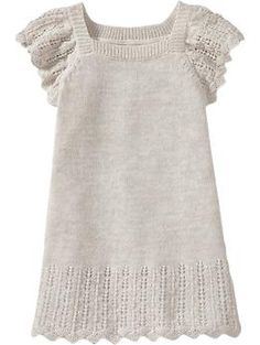 Sparkle-Pointelle Sweater Dresses for Baby | Old Navy    cute for mari possibly