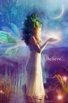 I Believe ~ by Lisa Bagherpour, digital ☽O☾ The Goddess Within - pagan novel by Iva Kenaz - moods ☽O☾
