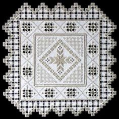 Touch of Spring (Hardanger embroidery)