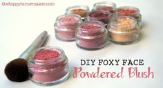Turn Up the Rouge On Your Cheeks - DIY Foxy Face Powdered Blush