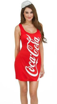 Coca Cola Tank Dress Costume,