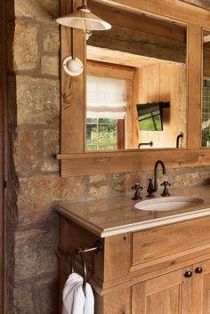 Incredible rustic bathroom vanities lowes to inspire you Washroom Vanity, Bathroom Vanity Designs, Rustic Bathroom Designs, Rustic Bathroom Vanities, Rustic Bathrooms, Bathroom Ideas, Luxury Interior Design, Interior Design Inspiration, Interior Decorating