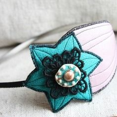 52 meilleures images du tableau bibi   Textile jewelry, Alice Band ... 2ff72eefd37