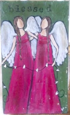 Blessed :Original Acrylic on Wood Painting. $75.00, via Etsy. by bertha