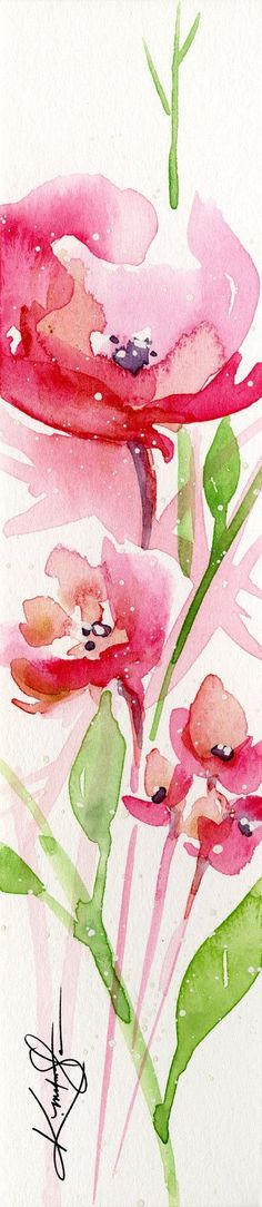 Flower Painting, Shabby Chic, Cottage, watercolor Canvas Giclee Art Print Original Floral watercolor painting Kathy Morton Stanion EBSQ