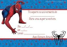 convites de festa de aniversário do homem aranha para imprimir
