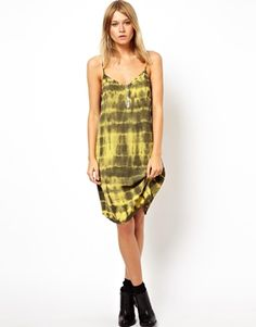 Image 1 of ASOS Cami Dress With Tie Dye And Embroidery