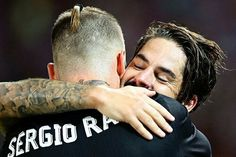 Isco, Sergio Ramos. Real Madrid, UEFA Super Cup 17.08.08
