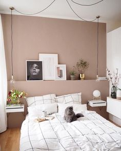 Home Interior Apartment .Home Interior Apartment Dusty Pink Bedroom, Pink Bedroom Walls, Pink Bedrooms, Home Bedroom, Bedroom Decor, Bedroom Ideas, Pink Walls, Room Interior, Interior Design Living Room