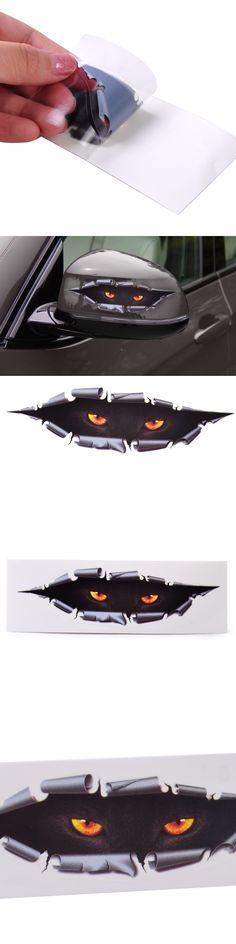 DWCX Car Styling Funny 3D Simulation Monster Leopard Eye Peeking Sticker Decal For Ford Mercedes Audi VW BMW Nissan Lexus Kia