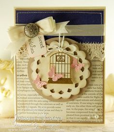 sweet avairy card from Joanna Munster                  #stampin up #cards