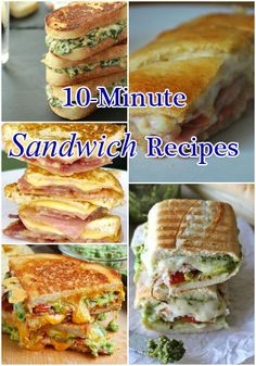 10-Minute Sandwich Recipes #recipe for you