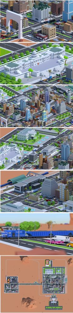 Buy Low Poly City Pack American Dream city by CGmano on This city is a huge group of assets, this city has an American character, as it contains buildings that exist in real. City Model, Low Poly 3d Models, Unique Buildings, Dream City, Train Station, 3d Design, Stock Footage, Skyscraper, 3 D