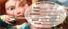 Here are some free Brave party invitations that you can personalise by filling in your details such as the date and time of your party. To s...