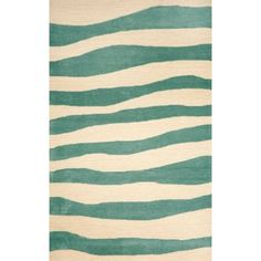 This wavey stripped designed rug is UV stabilized to minimize fading, and is naturally
