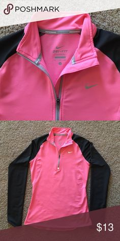 Nike Dri-Fit running top! Extra comfortable and stylish pink and gray Nike running top with Dri-Fit material! Nike Tops