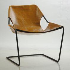Cadeira Paulistano Armchair, designed by Paulo Mendes da Rocha. Modern Chairs, Modern Furniture, Home Furniture, Furniture Design, Leather Furniture, Scandinavian Furniture, Leather Chairs, Home Design, Design Ideas