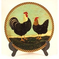 Lenox Two Alarm Morning Chickens plate from Warren Kimble Barnyard Animals