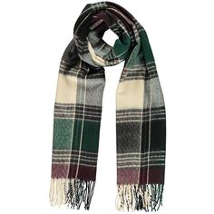 Lara Tartan Check Oversize Scarf (200 RUB) ❤ liked on Polyvore featuring accessories, scarves, tartan scarves, tartan shawl, plaid shawl, oversized scarves and tartan plaid shawl