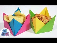Origami Fácil: Manualidades Utiles Platos Desechables de Papel/Cuencos de papel Pintura Facil - YouTube
