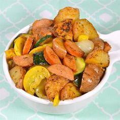 Skillet Smoked Sausage and Red Potatoes with Veggies Allrecipes.com