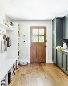White Shiplap, Pantry Design, Kitchen Design, Wide Plank, Home Improvement Projects, Mudroom, New Homes, Organized Pantry, Organization Ideas