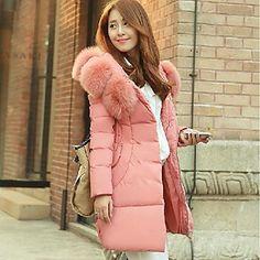 Women's Fashion Slim Feather Coat – USD $ 60.59