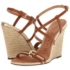 Burberry Cotton Gabardine Espadrille Wedges ($495) ❤ liked on Polyvore